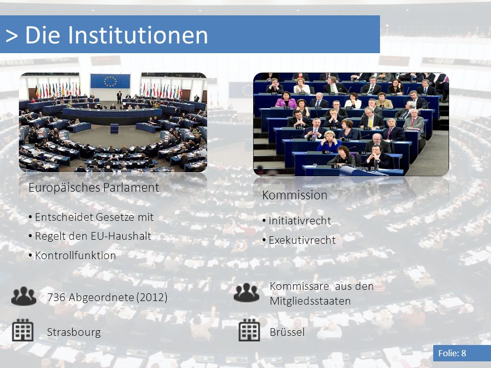 > Die Institutionen