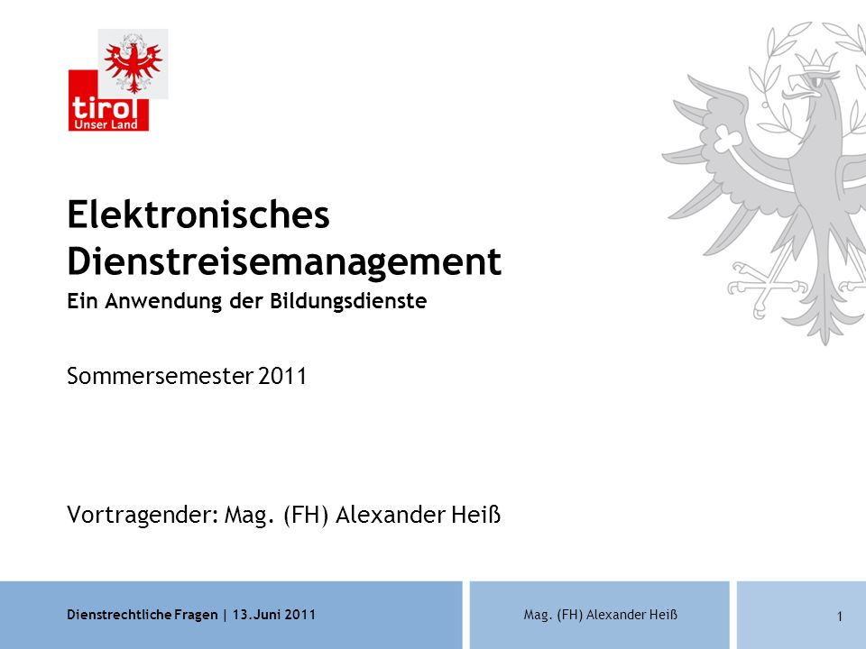 Elektronisches Dienstreisemanagement