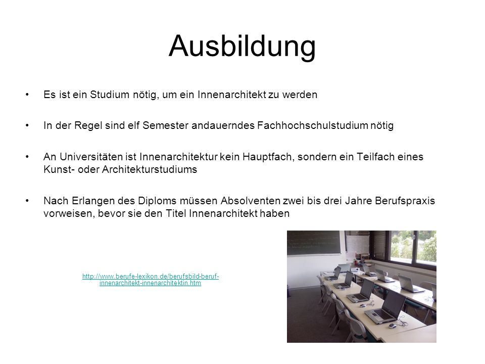Innenarchitekt ppt video online herunterladen for Innenarchitektur ausbildung
