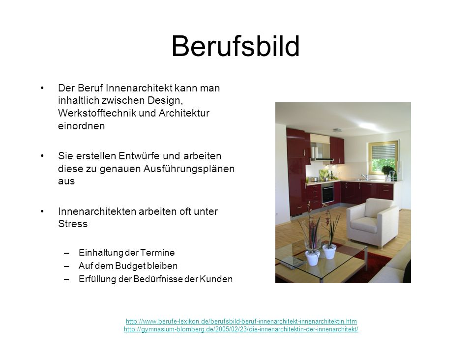 Innenarchitekt ppt video online herunterladen - Was macht ein innenarchitekt ...
