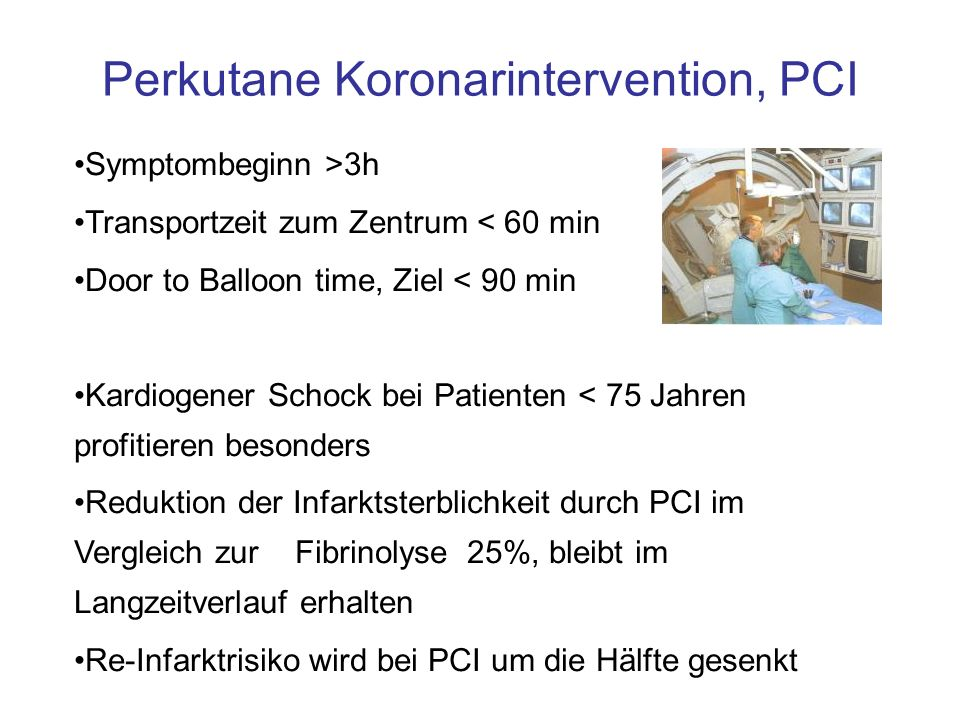 Perkutane Koronarintervention, PCI