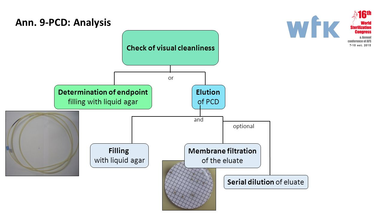 Determination of endpoint Check of visual cleanliness