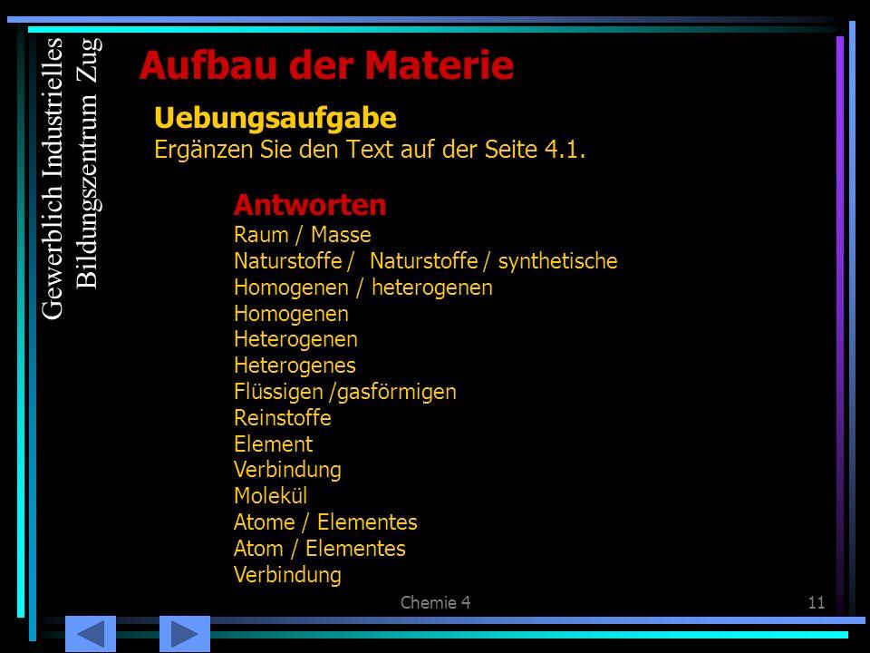 Zusammenfassung: Stoffe: Gewerblich Industrielles Bildungszentrum ...