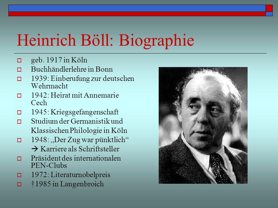 3 heinrich bll biographie - Heinrich Boll Lebenslauf