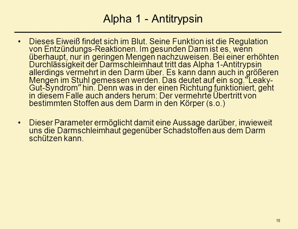 Alpha 1 - Antitrypsin