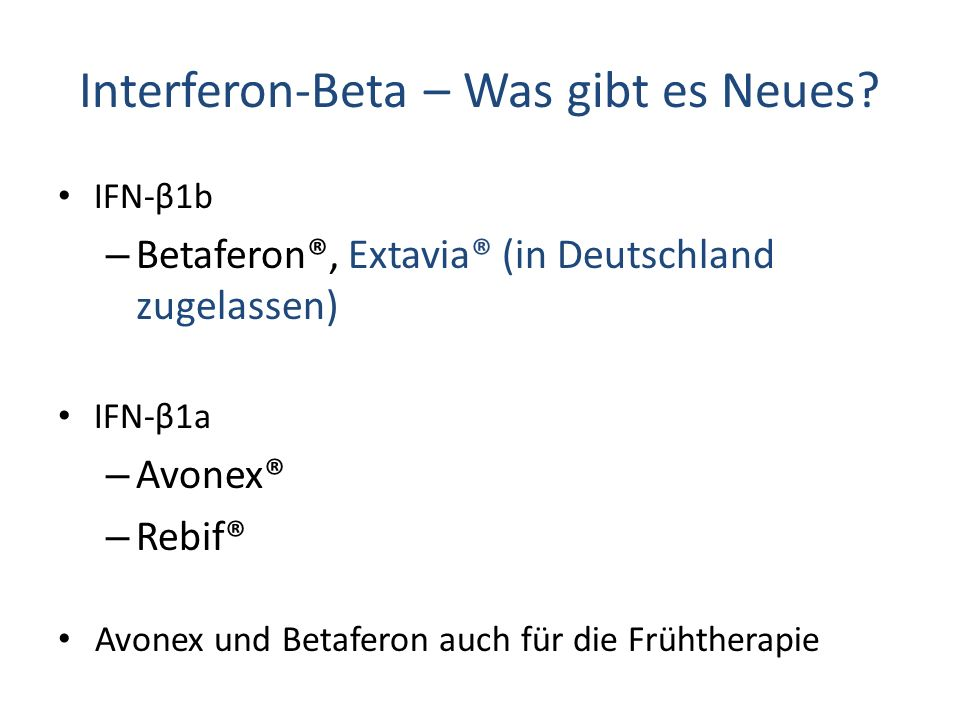 Interferon-Beta – Was gibt es Neues
