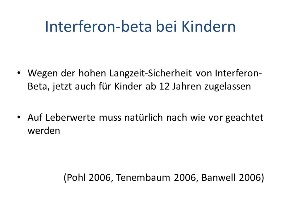 Interferon-beta bei Kindern