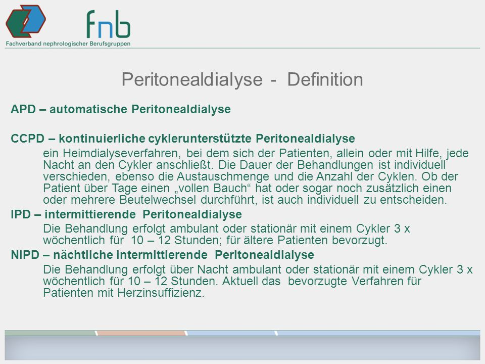 Peritonealdialyse - Definition