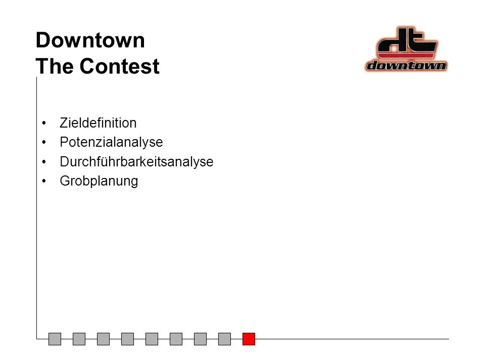 Downtown The Contest Zieldefinition Potenzialanalyse