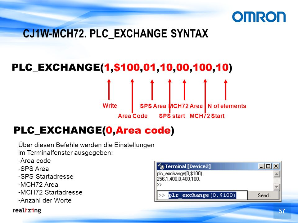 CJ1W-MCH72. PLC_EXCHANGE SYNTAX