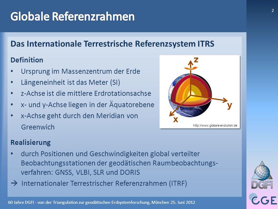 Das DGFI heute: Globale und regionale Referenzrahmen - ppt herunterladen