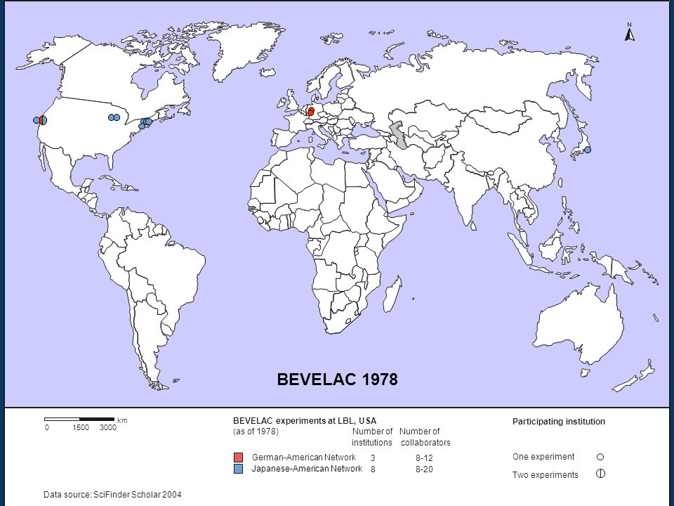 BEVELAC 1978 BEVELAC (as of 1978) Number of institutions collaborators