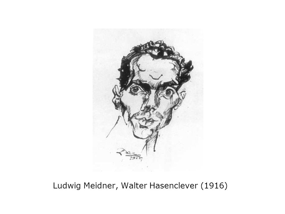 Ludwig Meidner, Walter Hasenclever (1916)