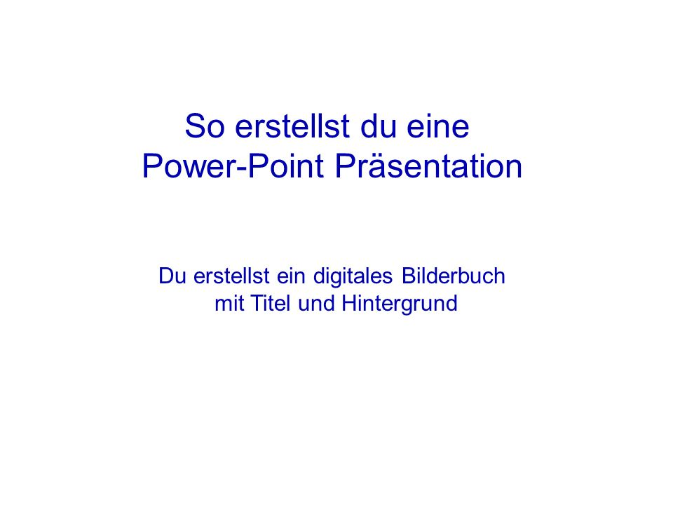 Power-Point Präsentation