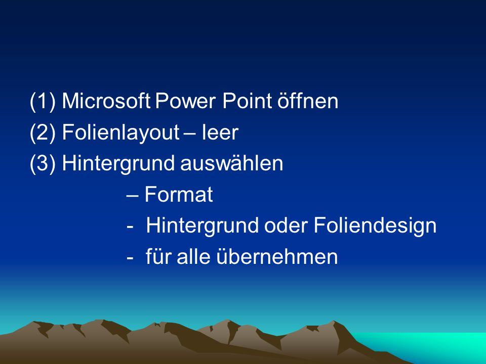 Microsoft Power Point öffnen