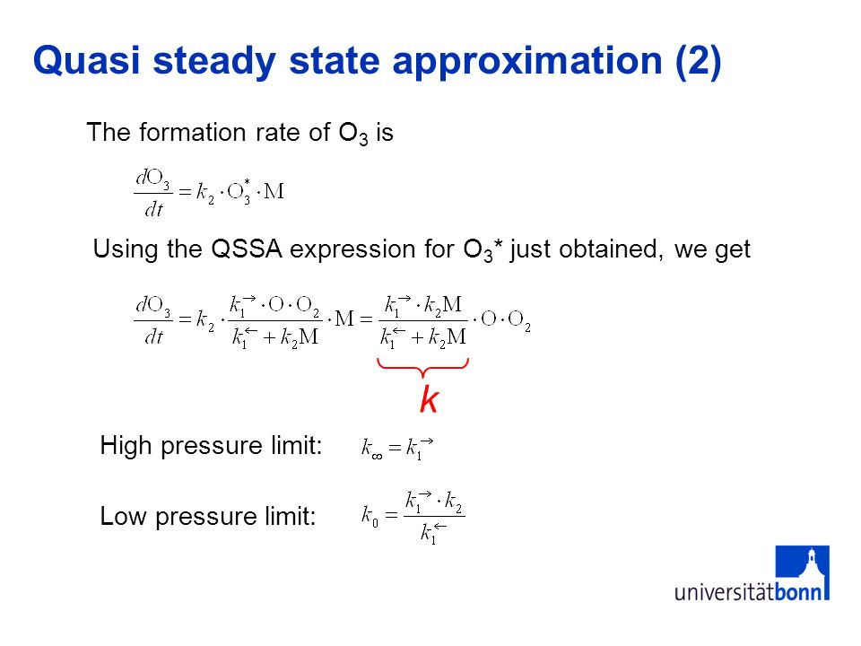Quasi steady state approximation (2)