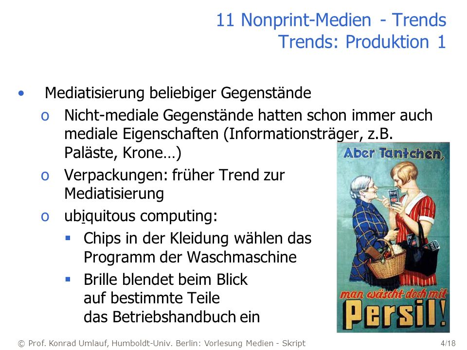 11 Nonprint-Medien - Trends Trends: Produktion 1
