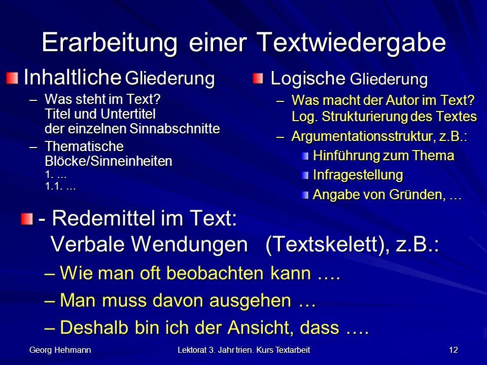Textverstehen Und Reproduktion Ppt Herunterladen