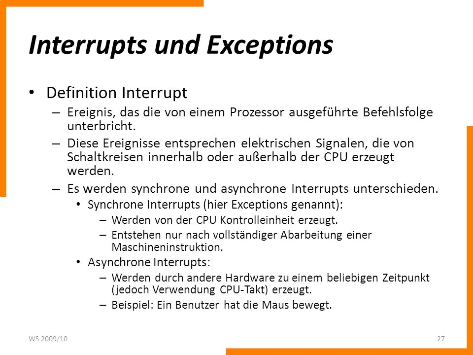 Interrupts und Exceptions