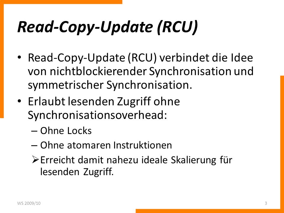 Read-Copy-Update (RCU)