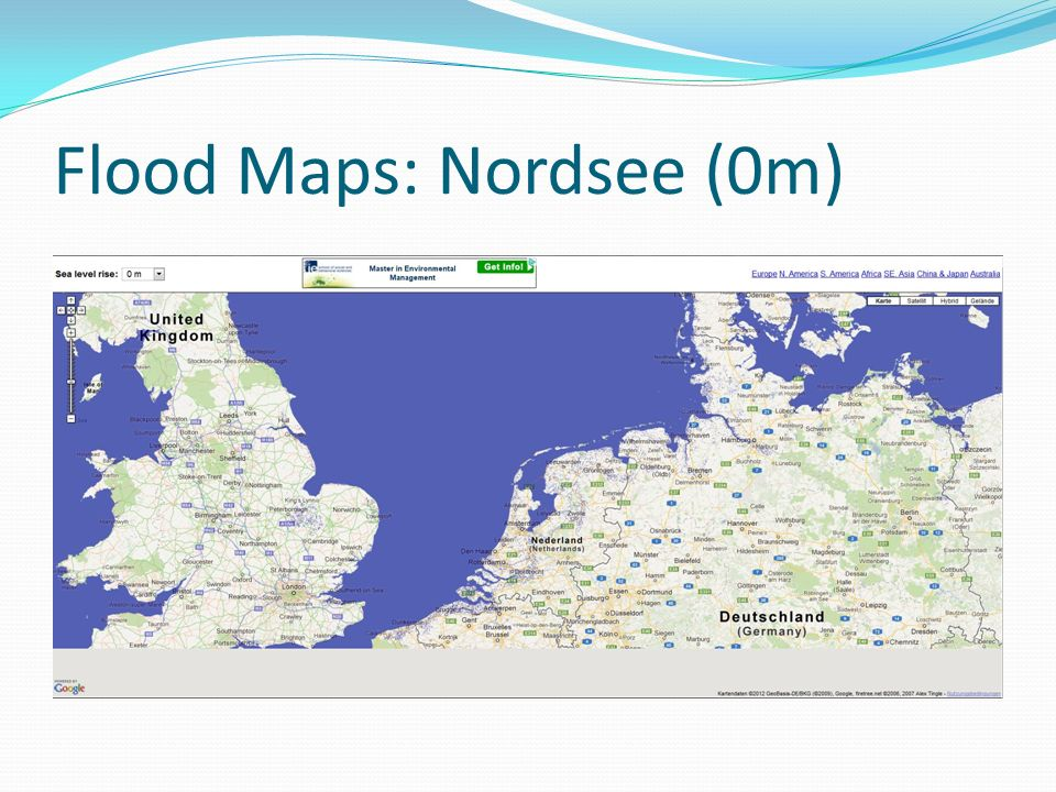 Flood Maps: Nordsee (0m)