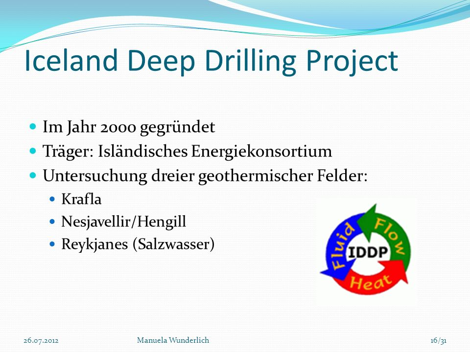 Iceland Deep Drilling Project