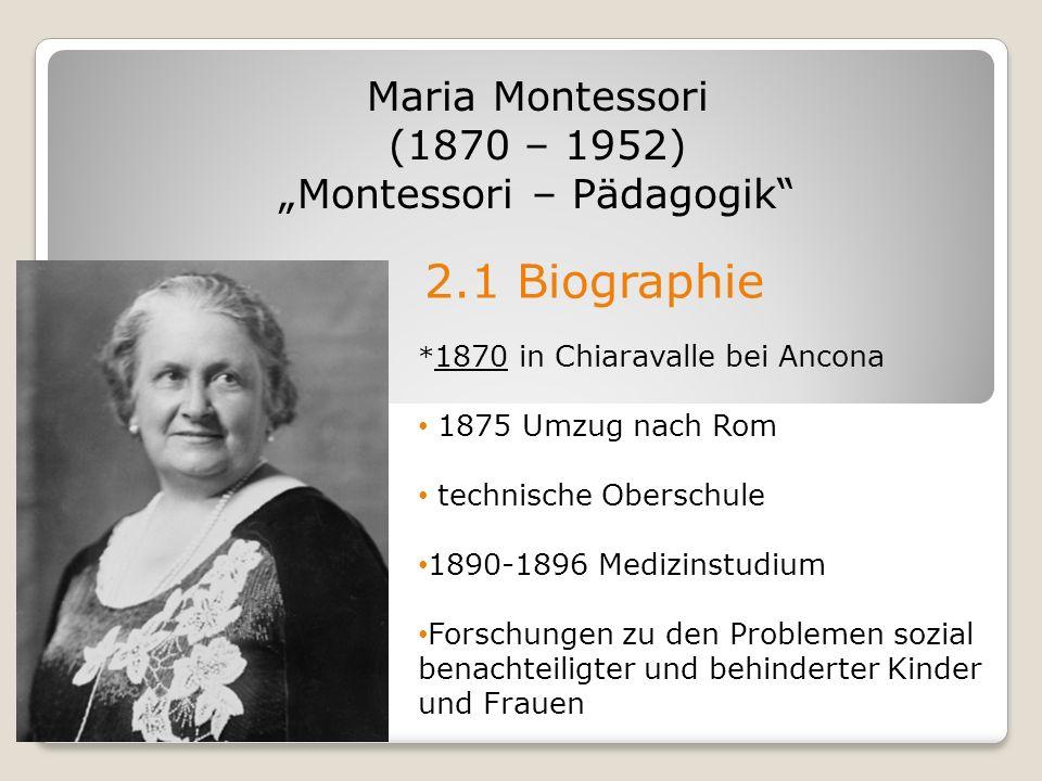 montessori pdagogik - Maria Montessori Lebenslauf