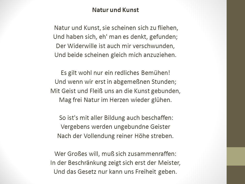 Gedichte thema natur