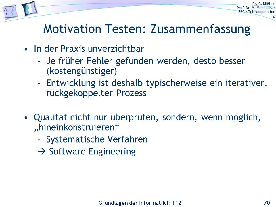 Motivation Testen: Zusammenfassung