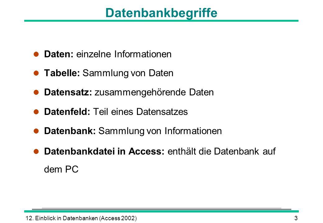 Was ist eine Datenbank? Datenbank: Beispiel: - ppt herunterladen