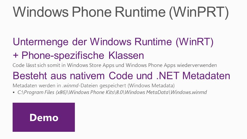 Windows Phone Runtime (WinPRT)