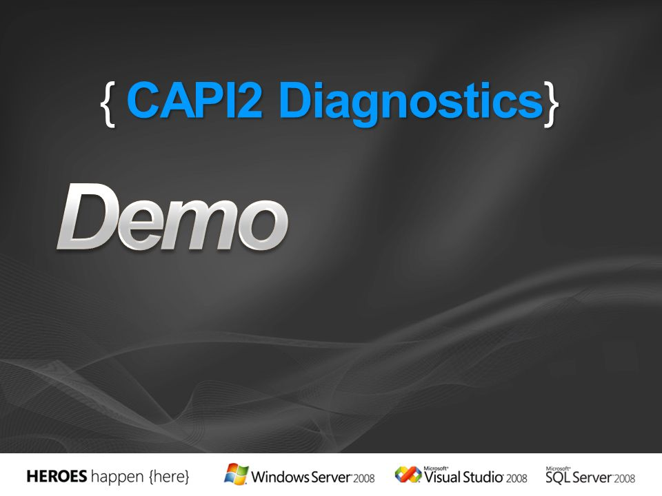 Demo { CAPI2 Diagnostics} 3/28/2017 8:11 PM