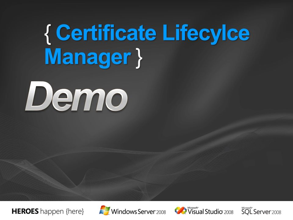 { Certificate Lifecylce Manager }