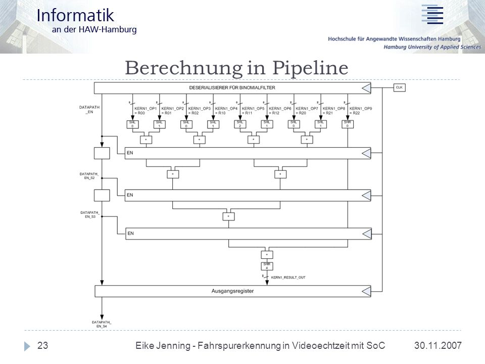 Berechnung in Pipeline