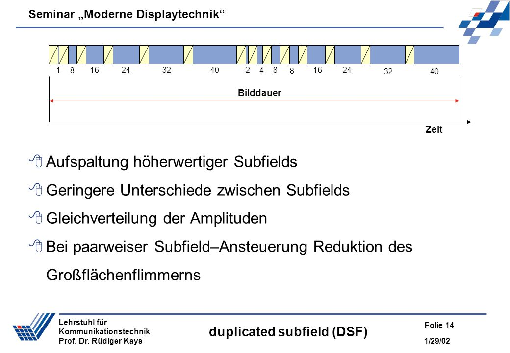 duplicated subfield (DSF)