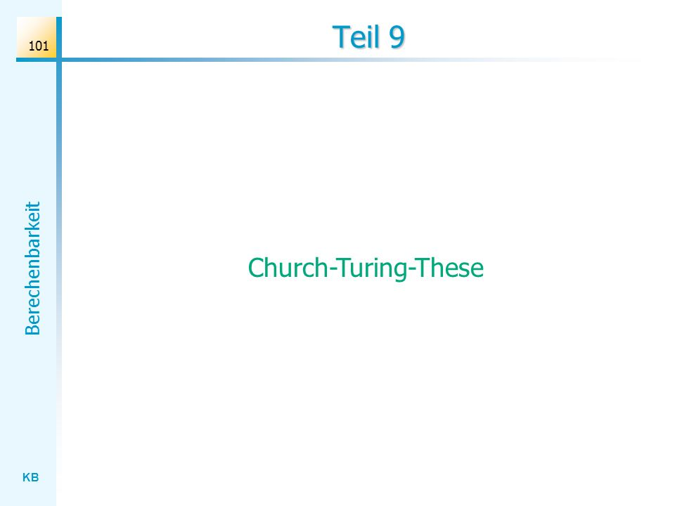 Teil 9 Church-Turing-These