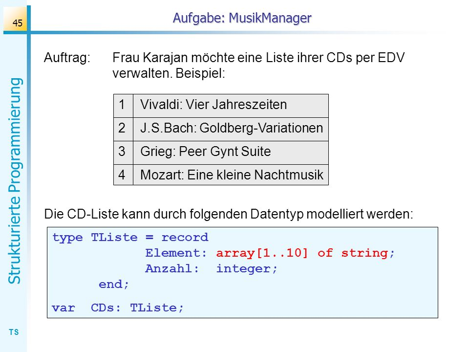 Aufgabe: MusikManager