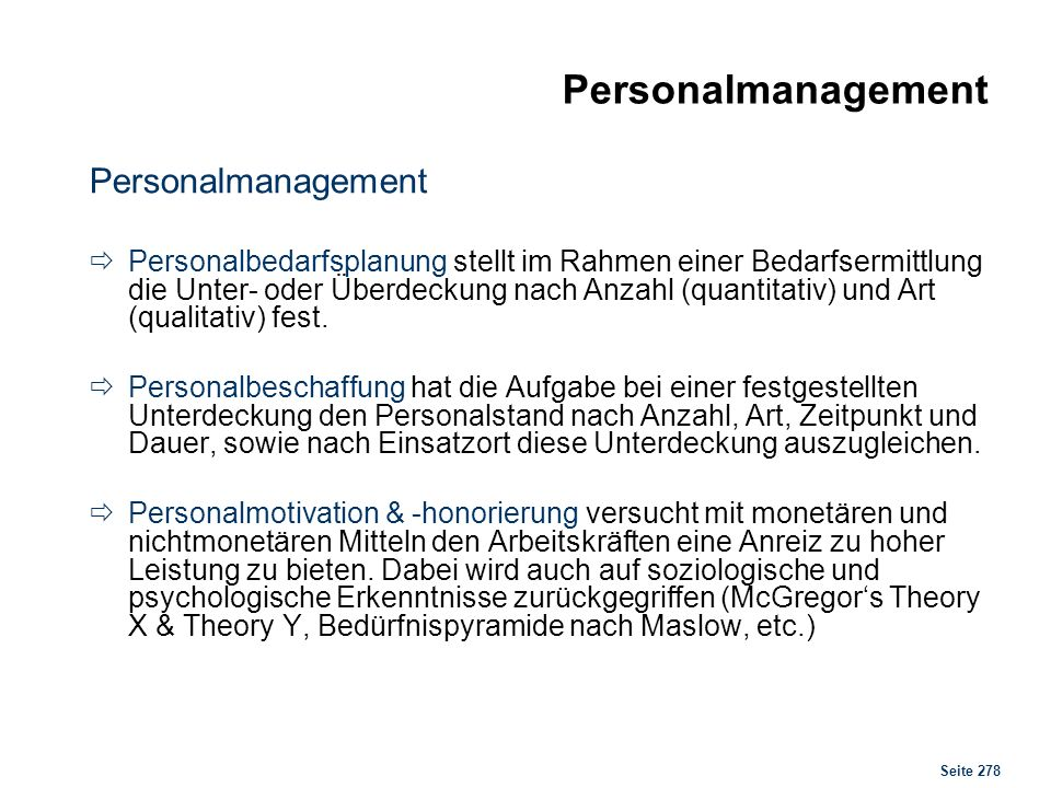 Personalmanagement Personalbeschaffung