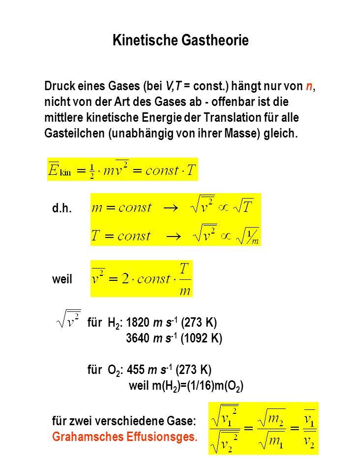 Ideale Gase p ·V = n ·R ·T p ·V = const V = Vo(1+ ·t) V n - ppt ...