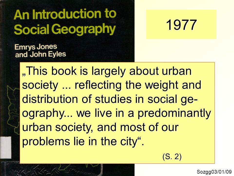 "1977 ""This book is largely about urban"