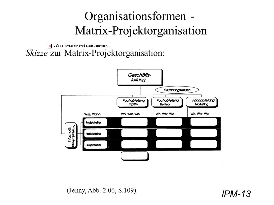 Organisationsformen - Matrix-Projektorganisation