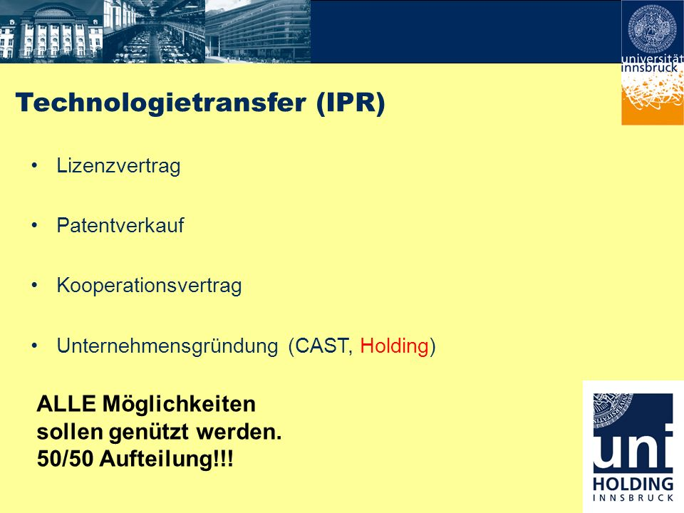 Technologietransfer (IPR)