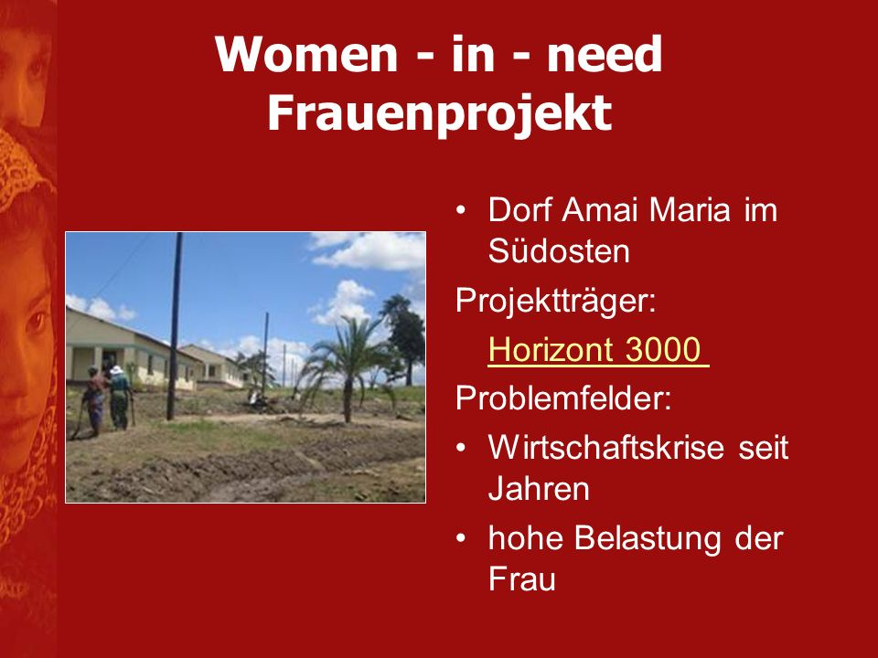 Women - in - need Frauenprojekt