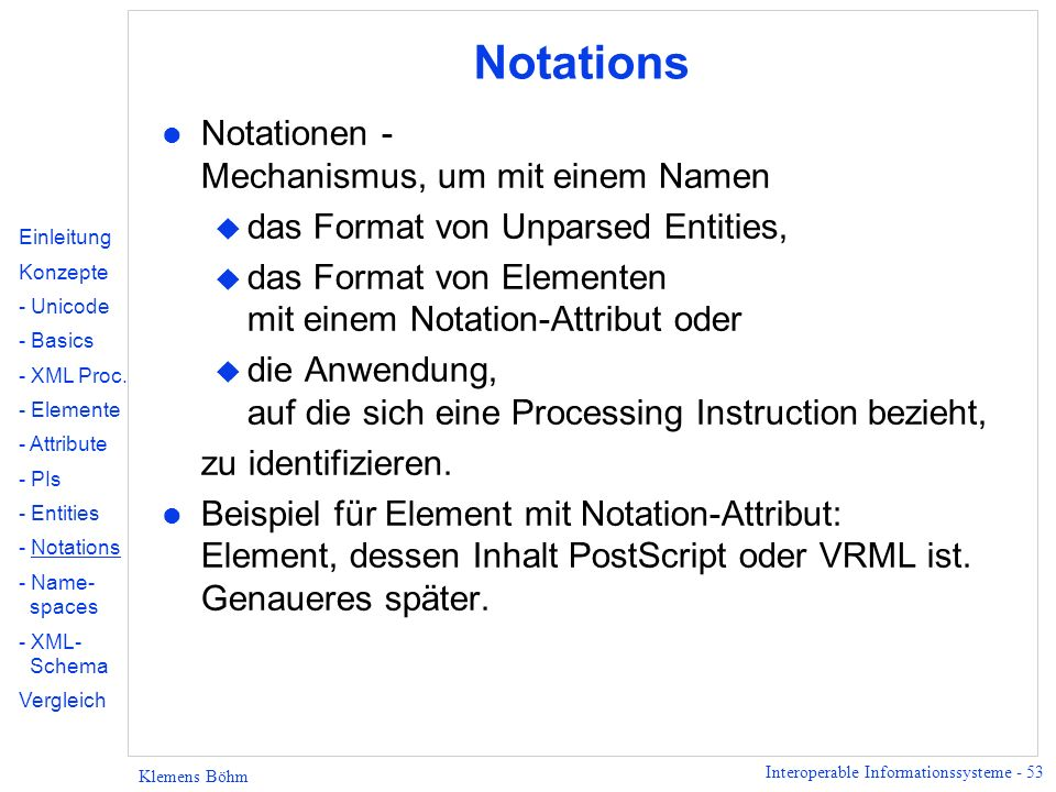 Notations Notationen - Mechanismus, um mit einem Namen