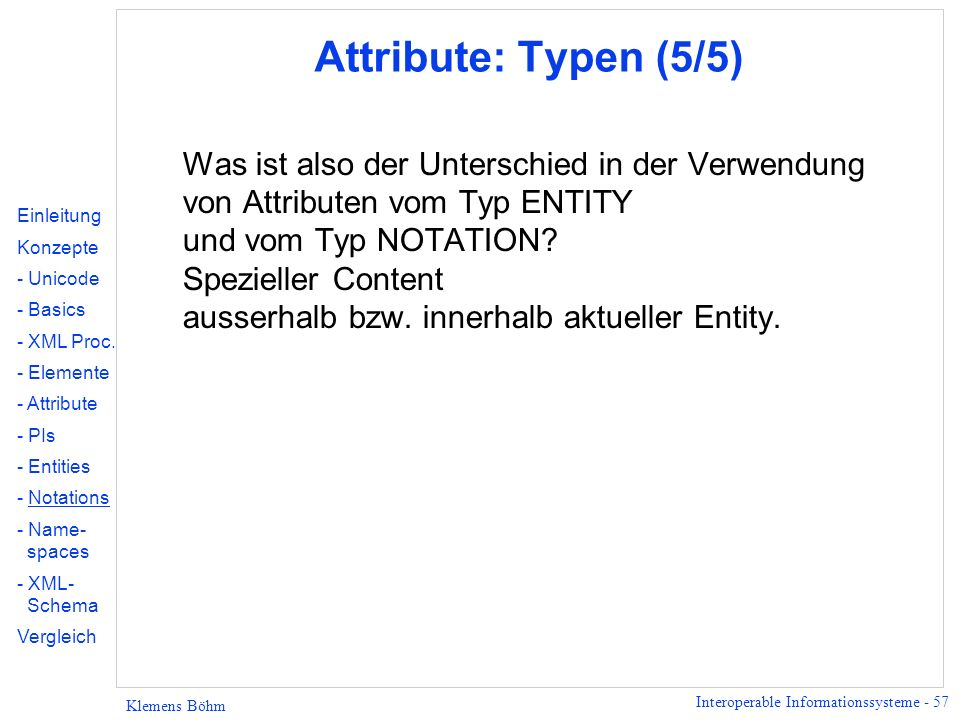 Attribute: Typen (5/5)