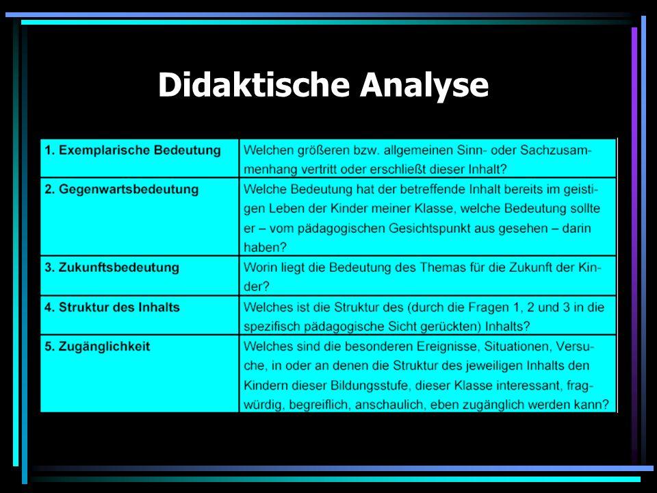Satzarten Sachanalyse Didaktische Analyse 3