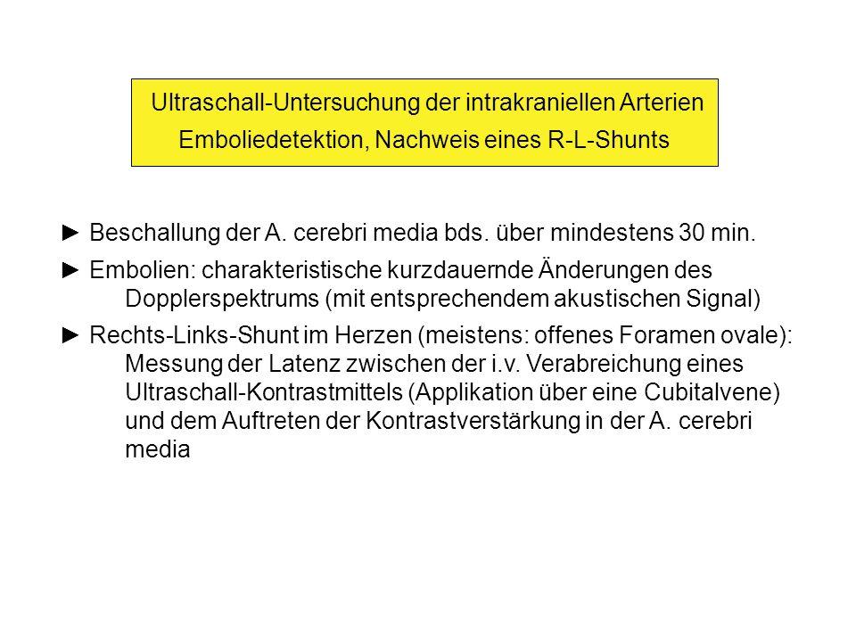 Ultraschall-Untersuchung der kraniozervikalen Arterien - ppt video ...