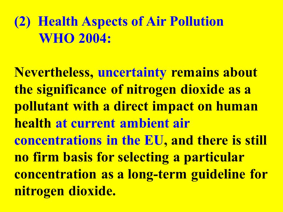 (2) Health Aspects of Air Pollution