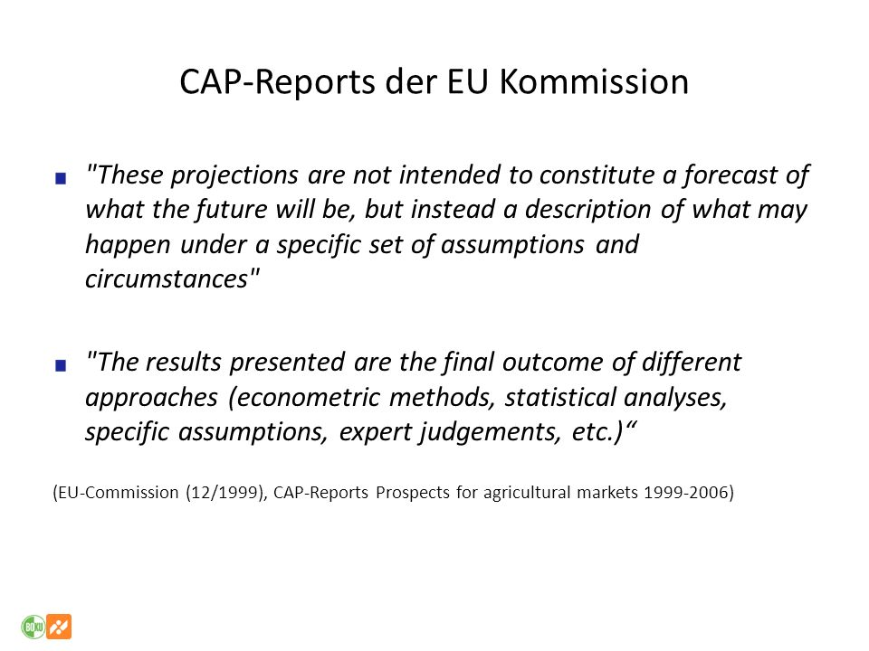 CAP-Reports der EU Kommission