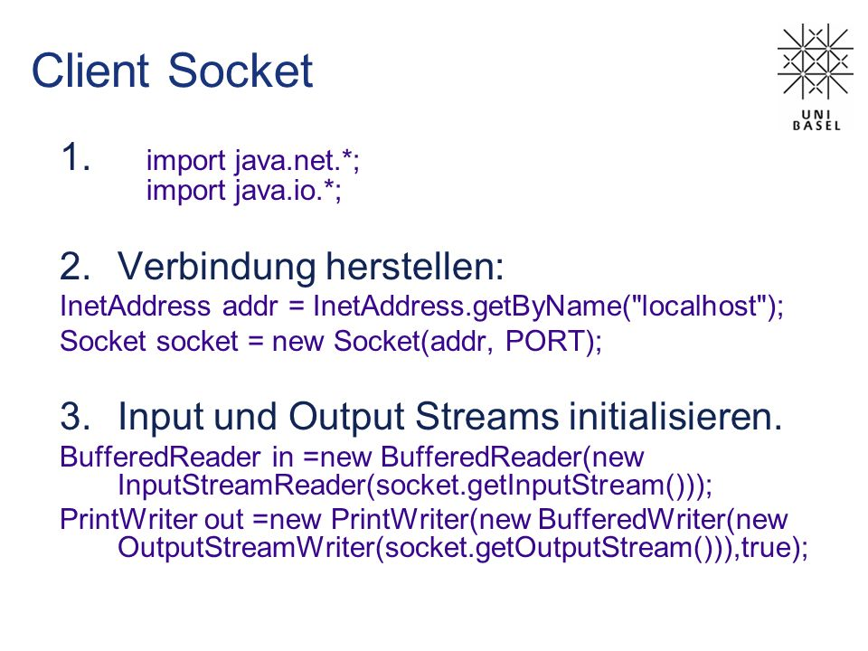 Client Socket import java.net.*; import java.io.*;